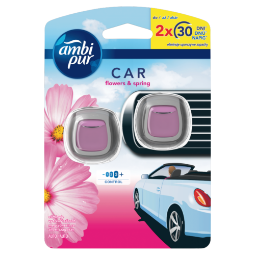 AMBI PUR CAR 2X2ML FLOWER&SPRING