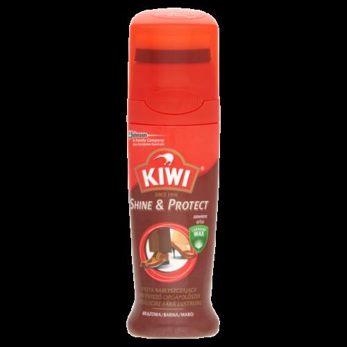 KIWI SHINE & PROTECT ÖNFÉNYEZŐ CIPŐÁPOLÓ BARNA 75ML